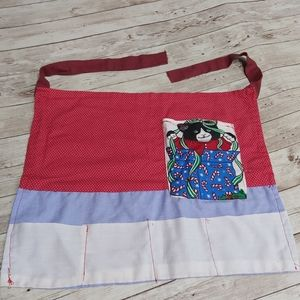 Kids Christmas Kitten Crafting Apron